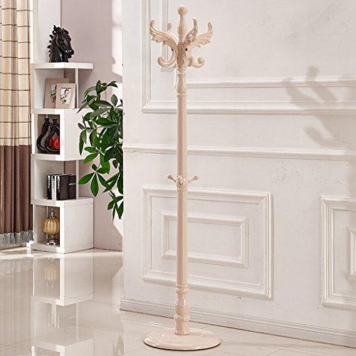 SKC Lighting-Porte-manteau Porte-manteau de plancher en bois massif Ronde châssis vêtements Rack Bureau Accueil Vertical Hat cintre cintre minimaliste moderne brun, blanc (42 * 42 * 184cm) ( Couleur : Blanc )