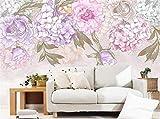 Benutzerdefinierte Fototapeten Handgemalt Pastoralen Retro Hortensie Zimmer Wandbild Wohnzimmer Tv 3D Wallpaper, 250 * 175Cm