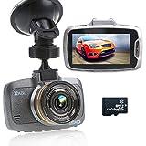 """RAGU 2.7"""" LCD 170° 1080P HD Auto DVR Kamera Videorekorder mit 16GB TF Karte, Armaturenbrett Fahrt Camcorder, Nachtsicht, Automatische Loop-Zyklus Aufnahme, Bewegungserkennung, Fahrspur Abreise, Überwachung beim Parken"""