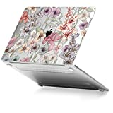 Die besten GMYLE Laptop-Hülle - GMYLE Blumengarten Muster Weich berühren Kristall Hartplastik Hülle Bewertungen