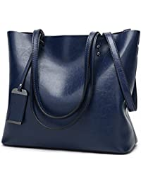 4f04100562a8 Womens Soft Leather Handbags Large Capacity Retro Vintage Top-Handle Casual Tote  Bags 2Size