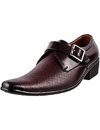 Mochi Men's Formals & Lace-Up Flats Monk Shoes