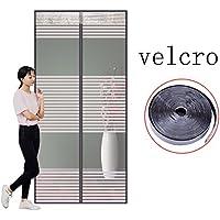 Velcro Magnética Puerta de pantalla,Mesh Cama con dosel con Puerta Verano Para Inicio Dormitorio
