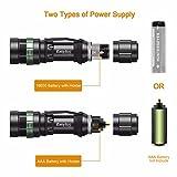 EasyAcc® Taschenlampe 3-in-1 mit Cree LED Taschenlampe, Kopflampe mit Einstellbarem Fokus - 5