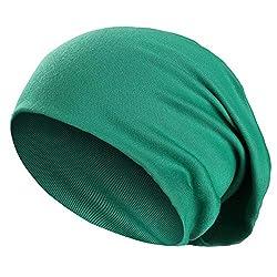 Wirezoll Winter Leicht und Weich Slouch Beanie Mütze für Damen, Herren, Jungen und Mädchen, Grün, Einheitsgröße