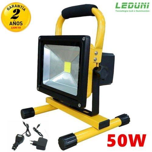 Foco Proyector LED 50W Luz Blanca 6000K Portátiles