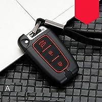 4Speed-Key Case for Car - غطاء مفتاح سيارة من سبيكة الكربون لسيارة هيونداي سولاريس HB20 فيلوستر SR IX35 Accent Elantra i30 For KIA RIO K2 K3 Sportage-SA SSAP-4000385259647-005