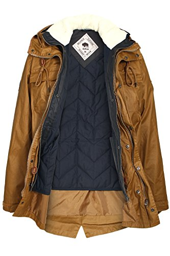 BELLFIELD Cardin 2 in 1 Washed Parka Jacket | Tobacco Tabac