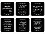 Hilarious Set of 6 Novelty Coasters - Perfect for White Elephant Gifts, Christmas presents, Housewarming Gifts, or Hostess Gifts.