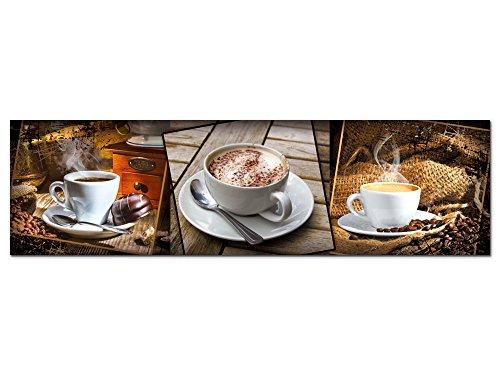 GRAZDesign Wandbild Küche Kaffee Cappuccino - Acrylglasbild - Bilder aus Acryl Glas XXL - Küchenbilder als Dekoration - freischwebende Optik / 180x50cm / 100083_004_01_04