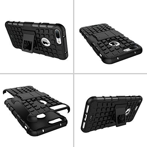 BCIT iPhone 7 Plus Cover - Alta qualità Doppio Strato ibrido Cellulari Case Custodia protettivo Per iPhone 7 Plus - Arancione Nero