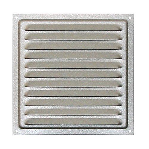 Air Vent verzinktem Stahl, verzinktem Stahl Grill mit Insekten Net 150 x 150 mm, Metall verzinkt Air Vent, Outdoor Lüftungsgitter 15 x 15 cm, Hohe Qualität verzinktem Stahl Air Vent mit Mesh. -