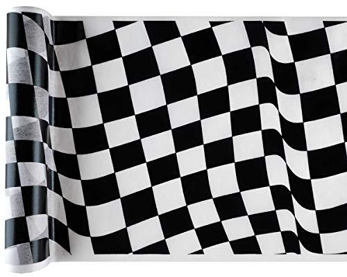 RP Band Karierte Flagge Racing Tischläufer 30cm x 5Meter
