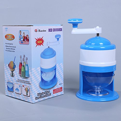 BESTONZON Manual Ice Chipper Ice Crusher Grinder Shaver Ice Shaver Snow Cone Maker (Blue)