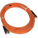 Tripp Lite Duplex Multimode 62.5/125 Fiber Patch Cable (ST/ST), 15M (50-ft.)(N302-15M)