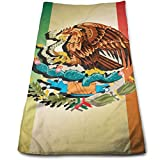 Mexico Flag Gradient 100% Cotton, Fade Resistant, Highly Absorbent, Machine Washable, Hotel Quality, Soft Absorbent Towel