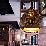 CUICUI Leuchter-Kronleuchter-Esszimmer-Lampe im europäischen Stil Wohnzimmer Gang Hohl Retro Decken-Kronleuchter,A