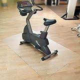 etm Tapis de Sol Appareil de Fitness | Tapis de Protection pour vélo elliptique, Home Trainer & rameur | Antiderapant & Anti-Bruit | Transparent | 183x120cm