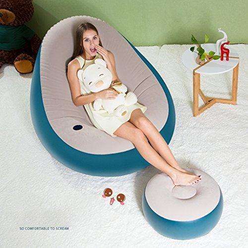 Brilliant firm Einzelnes blaues faules schaukelndes Sofa faltbares Sofa des zusammenklappbaren balkonhaares aufblasbaren Stuhls aufblasbares Sofa