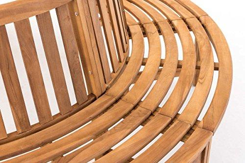 CLP Baumbank NOVUM aus massivem Teak-Holz, 360° Rund-Bank, geeignet für mindestens 8 Personen Ø ca. 132 cm / 250 cm (innen / außen) - 5