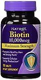 Natrol Biotin 10,000Mcg, Maximum Strength, 100 Tablets (500 Count Mx Strengh)