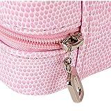 Vococal-Pequeo-Joyas-Caja-de-Almacenamiento-Viaje-Organizador-Pantalla-Estuche-para-anillos-pendientes-collar-Cuero-PU-Zip
