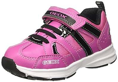Geox Mädchen J Top Fly Girl A Sneaker, Blau (Navy/Fuchsia), 34 EU
