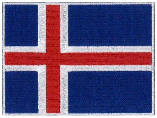 Islandia bandera bordado Patch 12x 9cm 43/4