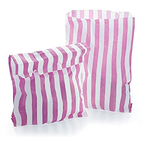 200Sachets à bonbons en papier Rose 175mm x 225mm–17,8x