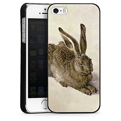 Apple iPhone 4 Housse Étui Silicone Coque Protection Lapin Lapin Levraut CasDur noir