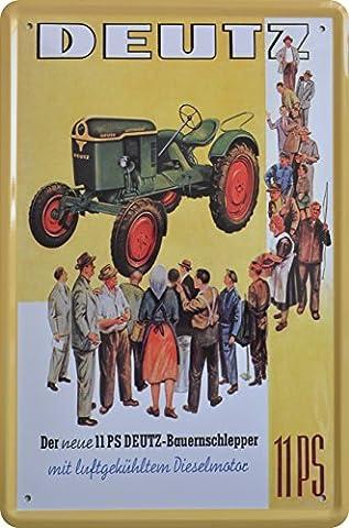 Tin Sign Track Gate Deutz Farm Tractor Design 20x 30cm Retro Advertising Sign Metal Sign XT29