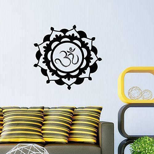 Abnehmbare Vinyl Mandala Floral Wandaufkleber Home Wandaufkleber Mandala Symbol Aufkleber Künstlerische Design Tapete Wandbild Poster S 59X59 cm
