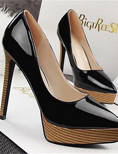WSS 2016 Chaussures Femme-Habillé / Soirée & Evénement-Noir / Rose / Rouge / Blanc / Argent-Plateforme-Talons-Talons-Similicuir silver-us6 / eu36 / uk4 / cn36