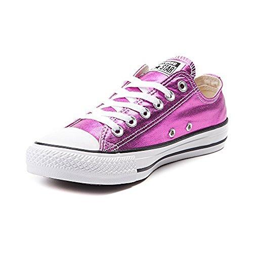 Converse Unisex Chuck Taylor All Star Low Top Magenta Glow/Black/White Sneakers - Medium/12 B(M) US