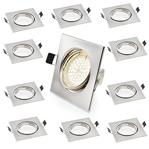 Quadratischen Sockel ([lux.pro] 10 x Einbaustrahler Rahmen / Einbaurahmen (quadratisch) für GU10 Spot Sockel - LED - schwenkbar)