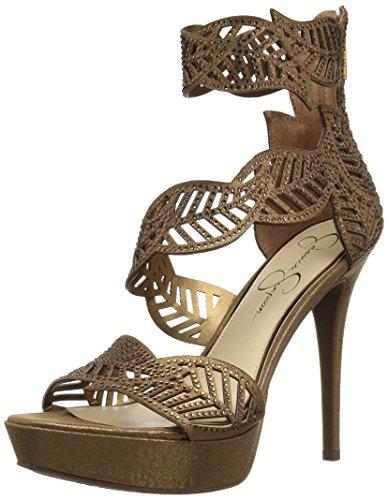 Jessica Simpson Damen BONILYNN Sandalen mit Absatz, Bronze, 35.5 EU -