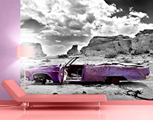 Giant Wall Mural / Photo Wallpaper Pink Cadillac 400 x 280 cm