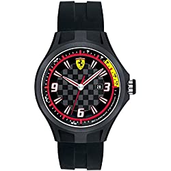 Ferrari Scuderia SF 101 Pit Crew 0830005 44mm Plastic Case Black Silicone Mineral Men's Watch