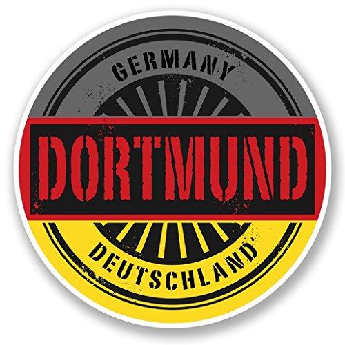 Preisvergleich Produktbild 2x Dortmund Germany Deutschland Vinyl Aufkleber Aufkleber Laptop Reise Gepäck Auto Ipad Schild Fun # 6018 - 20cm/200mm Wide