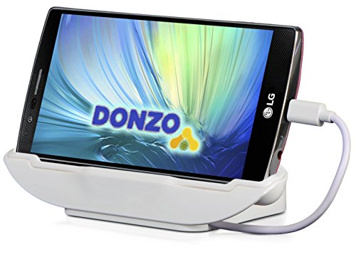 DONZO USB Docking-Station|Ladegerät für Sony Xperia Z3 / Z3+ / Z4 inkl. micro-USB Daten-Kabel Weiß -