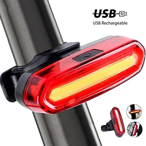 Lomire USB Recargable Bicicleta Luz Trasera,LED Faro Trasero Bici 6 Modos Luz...
