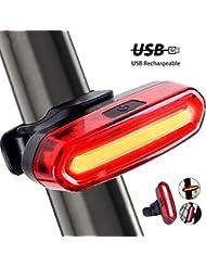 Lomire USB Recargable Bicicleta Luz Trasera,LED Faro Trasero Bici 6 Modos Luz Cola Flash LED Lámpara Luz Alerta Impermeable,240°Faro Trasero Bici Motos para Máxima Seguridad de Ciclismo