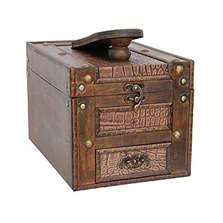 aubaho Schuhputzkasten Schuhputzkiste Holz Schuhputzbox Antik-Stil Schuh Box