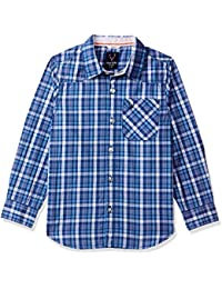 271e90e10 Allen Solly Junior Boy's Checkered Slim fit Shirt (ABSF31900112_Blue_11-12  Years)