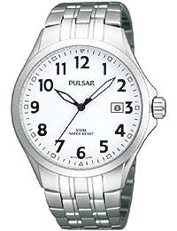 Pulsar Uhren PS9091X1 - Reloj analógico para mujer de acero inoxidable blanco