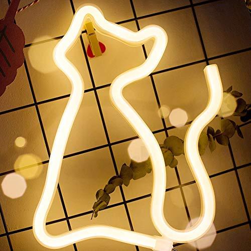 Color: Señales de neón  Material: plástico + luces de neón LED  Potencia: 3W  Potencia: 3 * pilas AA (no incluidas)  Nota: Las luces de neón tienen protección contra sobrecarga incorporada (por debajo de 5V). No se recomienda enchufar el cable USB...