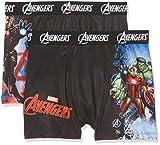 Marvel Jungen Boxershorts Boxer packx2, 2er Pack, Mehrfarbig (Multicolor A3), 140 (Herstellergröße: 8/10)