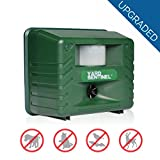Yard Sentinel Animal Repellent, Aspectek Ultrasonic Animal Repeller Pest Control Outdoor Electronic Pest Deterrent with Motion Sensor for Scare Away Dog, Cat, Squirrel, Rat, Vole, Raccoon, Rodent, Fox (Green - 01)