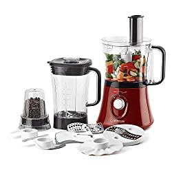 Cello Kitchen Chef KC-FP-300 750-Watt Food Processor (Red and Black)