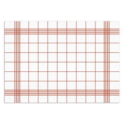 Landlust in rot-weiß kariert I DIN A3 eckig I Platzset aus Papier, modern I Einweg Tischset I dv_328 ()